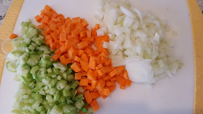 Celery, Carrots, and Onion for Soup