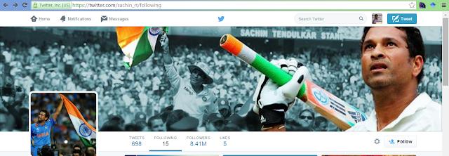 Sachin Tendulkar in Twitter