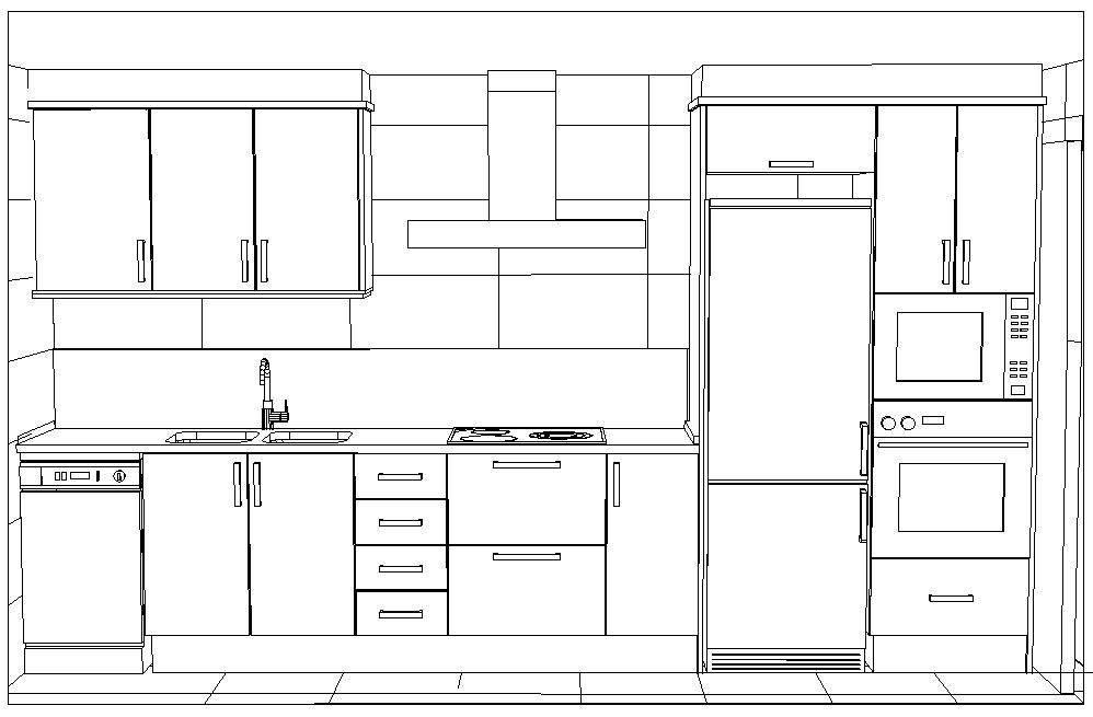 Excepcional Cocina Dimensiones Del Diseño Del Gabinete Adorno ...