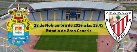 Previa UD Las Palmas - Athletic Club 28 Noviembre 2016 a las 19:45
