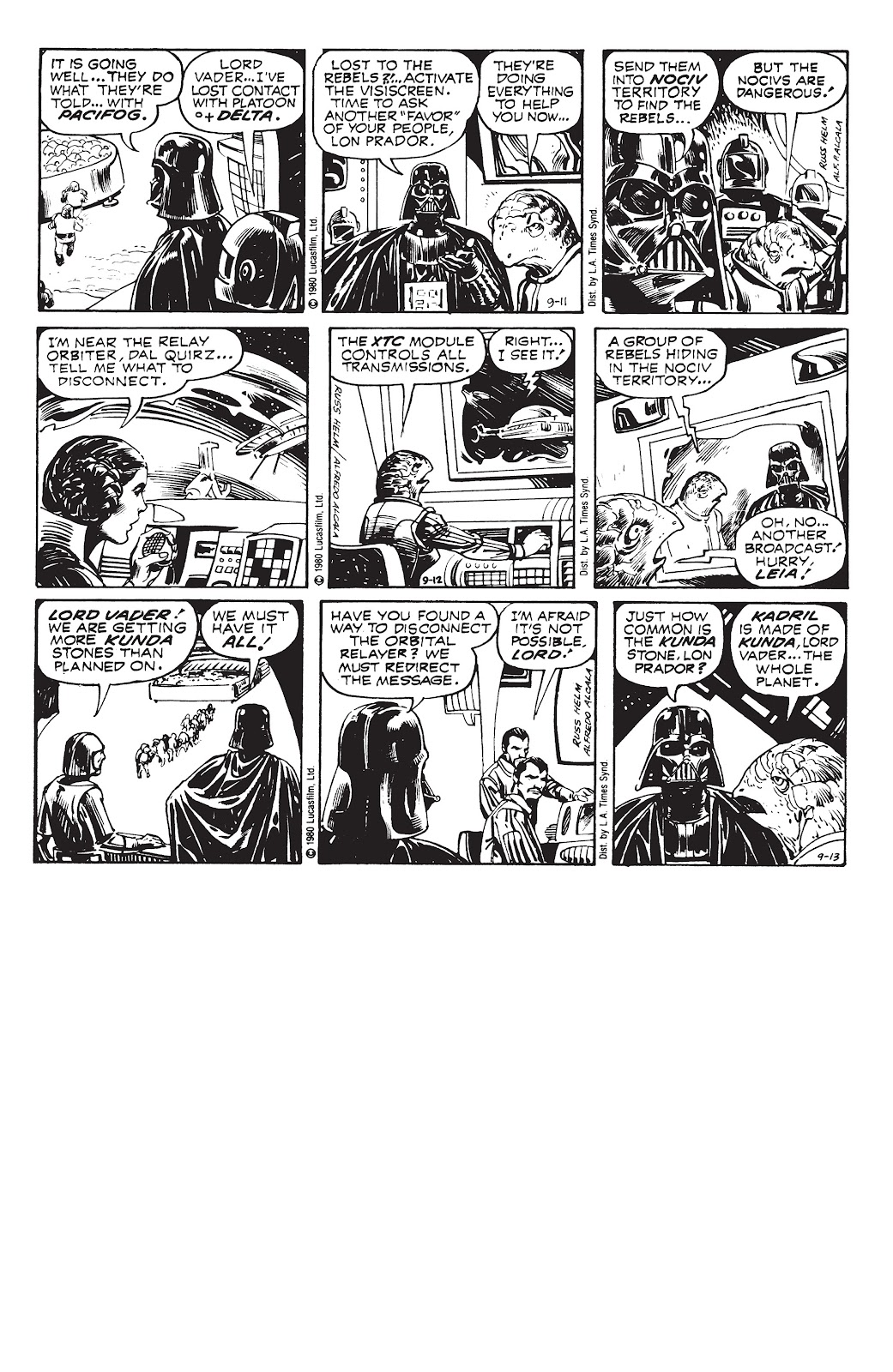 Read online Star Wars Legends: The Newspaper Strips - Epic Collection comic -  Issue # TPB (Part 3) - 94