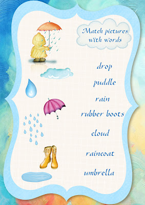 rain vocabulary worksheet