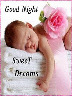 Good Night Sweet Dreams Baby Girl Photo