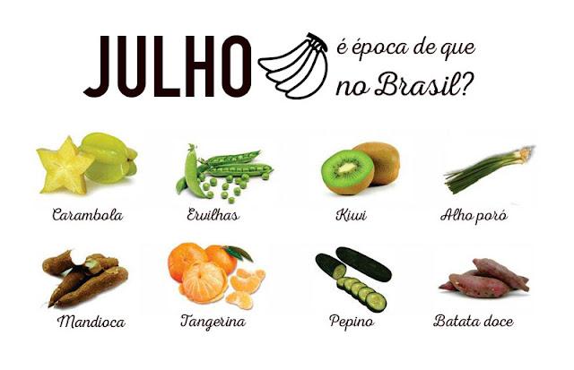 Resultado de imagem para frutas verduras e legumes de julho