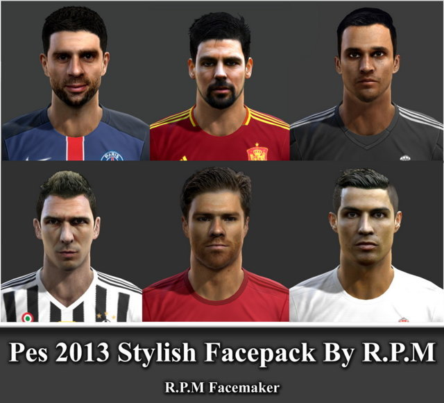 PES 2013 New Facepack