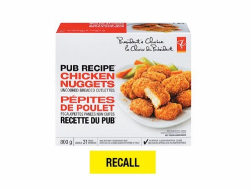 Product Recall PC Pub Recipe Chicken Nuggets