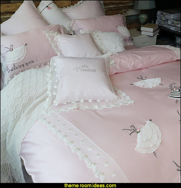 Ballet girl bedding  ballerina bedrooms  - ballerina bedroom decorations - Ballet Theme Bedroom ideas - ballerina wall mural decals  - Prima Ballerina bedroom decorating theme - swan lake bedroom ideas -  ballerina bedroom wall decorations - swan lake wall decor - pink roses decor - rose decorations -