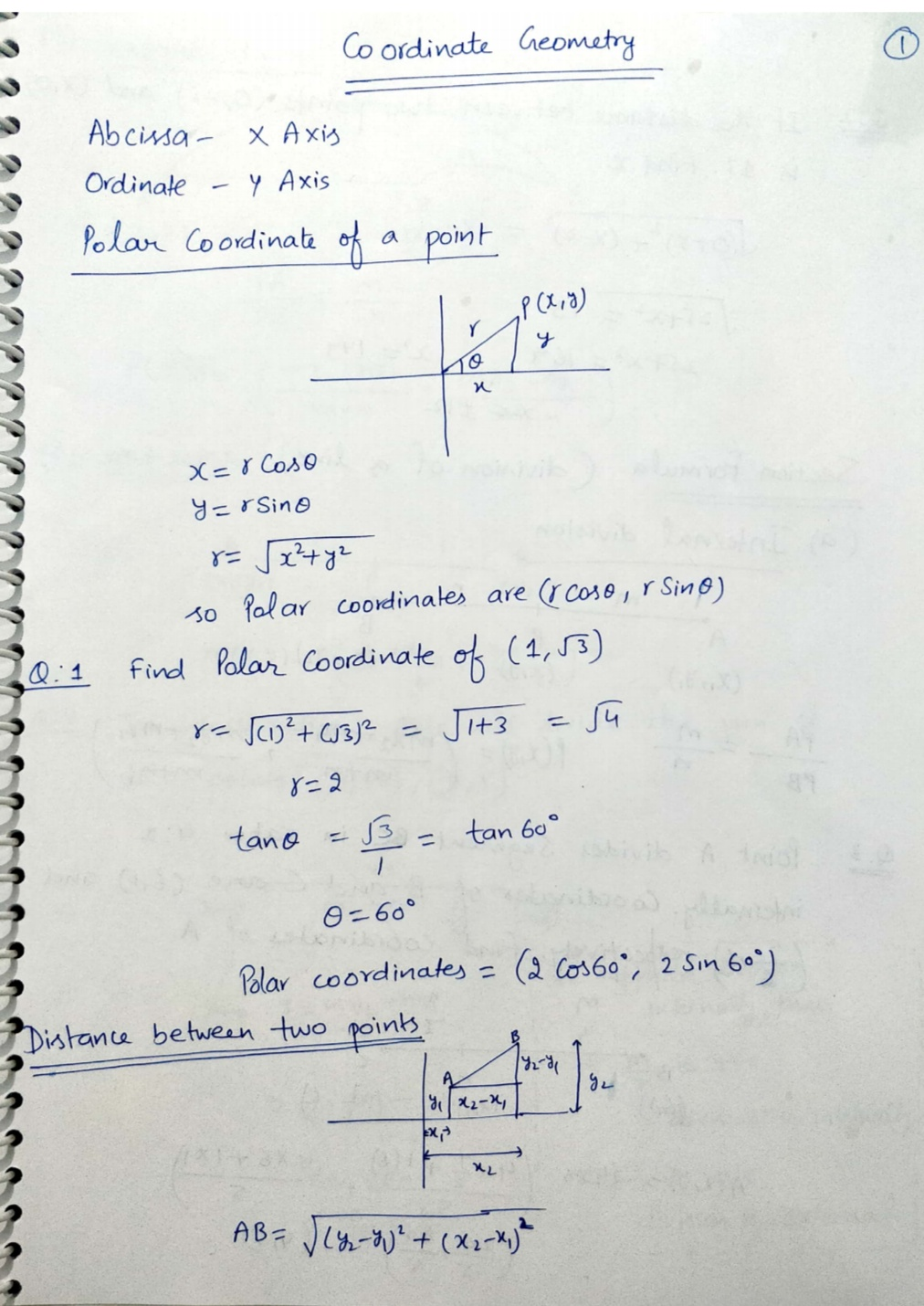 Abhinay Sharma : Coordinate Geometry Handwritten Notes - Gk