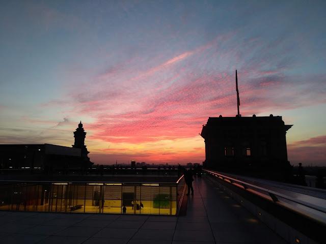 שקיעה מגג הבונדסטאג