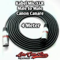 Kabel Mic XLR Male To Male Canon Canare 4 Meter