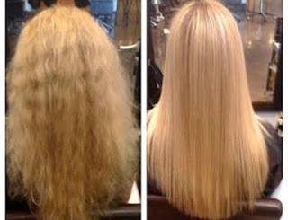 خطوات بسيطة لفرد الشعر بالبروتين في المنزل