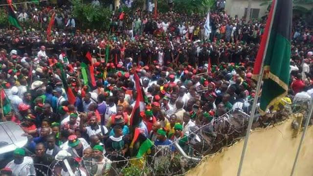 Thousands Of Biafrans Storms Umuahia today 28 June 2017
