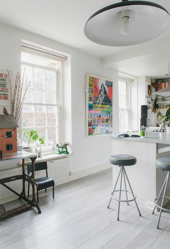 cozinha americana, balcao na cozinha, cozinha integrada, decoracao clean, decoracao clara, sala iluminada, decoracao bonita, sala