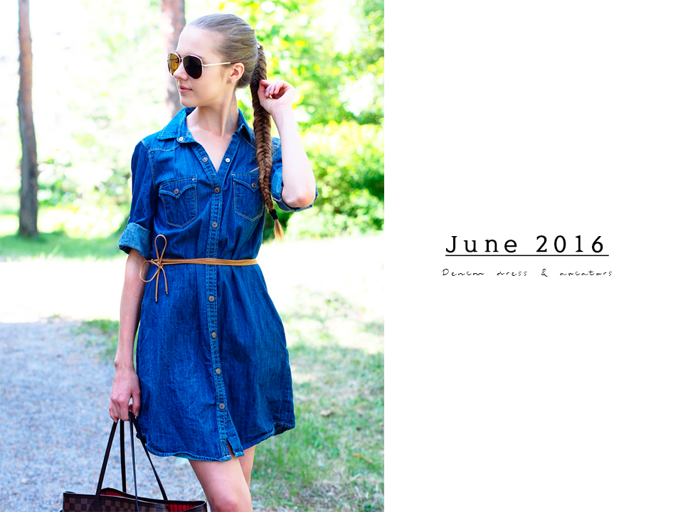 retro-style-dark-wash-denim-dress