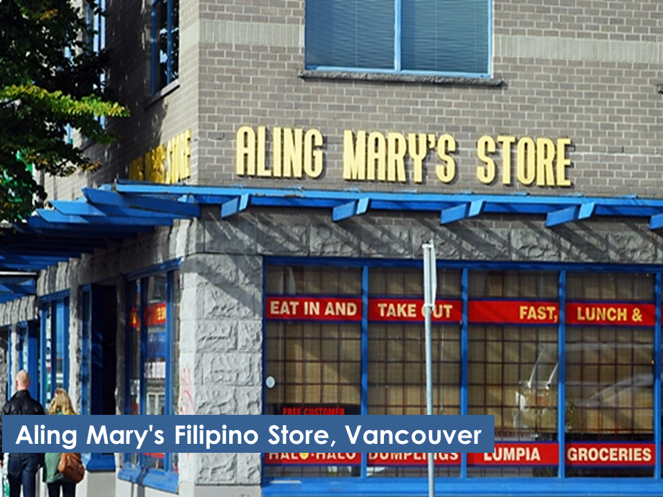 There is always an impression that once a Filipino went abroad for a very long time, they somehow miss the things they left in the Philippines, especially local delicacies. In Canada, there are ways not to miss Filipino foods. In fact, OFWs in Canada can have them anytime they crave for it with the help of Filipino grocery stores and restaurants which can be found only at the convenience of their neighborhood..    Here are the list of popular Filipino grocery stores in Canada:     In the Philippines, EDSA could make you exhausted and hungry when you get caught in heavy traffic. In Richmond, British Columbia, Edsa is a place of convenience where you can refresh and recharge.    In Vancouver, the mere name of the store would tell you that you can get Filipino stuffs in there. If you are craving for something, you don't need to ask someone from miles away to send it to you. Aling Mary's might have it ready for you.    Toronto is a cradle of many Filipinos living in Canada. In there you may find more than one Filipino stores that could help you a lot if you are trying to find something that could satisfy your cravings.        Seafood City Supermarket, a very large Filipino grocery is not only popular in Canada but also in different part of the west. They have wide variety of oriental products including Filipino favorites.  Sponsored Links    Who would think that the Filipino variety store concept will go overseas?  Sari-sari stores made their way to Canada as well serving the needs of Filipino migrant workers needs.            Manila Center in Brampton, Ontario is a one-stop shop where you can get what you need. From the infamous broom to various items you can only find back home, chances are, they might have it. And after buying something and you thought of sending remittance to your family, you can also do it right there.    They also have one in Calgary where you can find Filipino products, money remittance center and even DVD rentals.    These Filipino stores play important role to the lives of our hardworking OFWs. Somehow they bring a piece of home in a foreign land creating a sense of belonging and comfort.    If you know more about popular stores in Canada, we would love to read it from you.  Just feel free to write it at the comment box below.      Read More:  10 Reasons Why Filipinos Love Canada    Comparison Of Savings  Account In The Philippines:  Initial Deposit, Maintaining  Balance And Interest Rates  Per Annum   Mortgage Loan: What You Need To Know    Passport on Wheels (POW) of DFA Starts With 4 Buses To Process 2000 Applicants Daily    Did You Apply for OFW ID and Did You Receive This Email?    Jobs Abroad Bound For Korea For As Much As P60k Salary    Command Center For OFWs To Be Established Soon   ©2018 THOUGHTSKOTO  www.jbsolis.com   SEARCH JBSOLIS, TYPE KEYWORDS and TITLE OF ARTICLE at the box below   ©2018 THOUGHTSKOTO  www.jbsolis.com   SEARCH JBSOLIS, TYPE KEYWORDS and TITLE OF ARTICLE at the box below