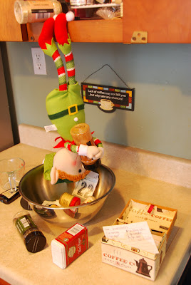 elf on the shelf advent bible study cooking in kitchen