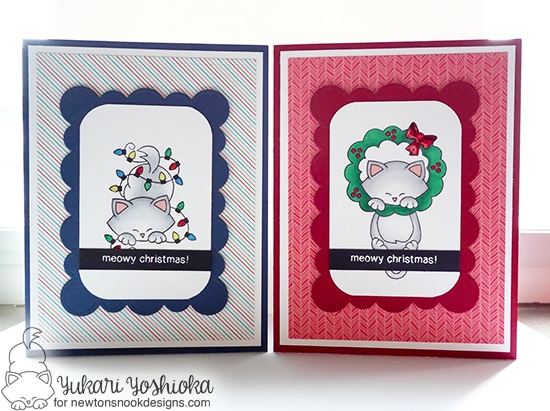 Christmas Favorites Week - Day 3  | Cat Christmas card by Yukari Yoshioka | Newton's Holiday Mischief stamp set  by Newton's Nook Designs #newtonsnook #christmascards