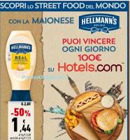 Logo Con maionese Hellmann's vinci 77 voucher Hotels da 100€