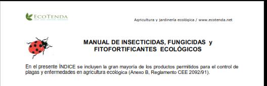 Manual de insecticidas, Fungicidas y fitofortificantes ecologicos