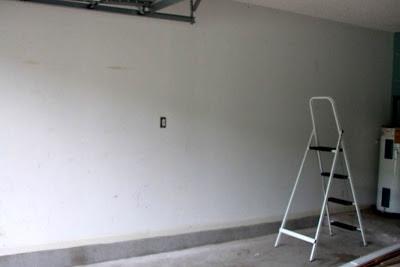 jaguarjulie garage wall before unpainted