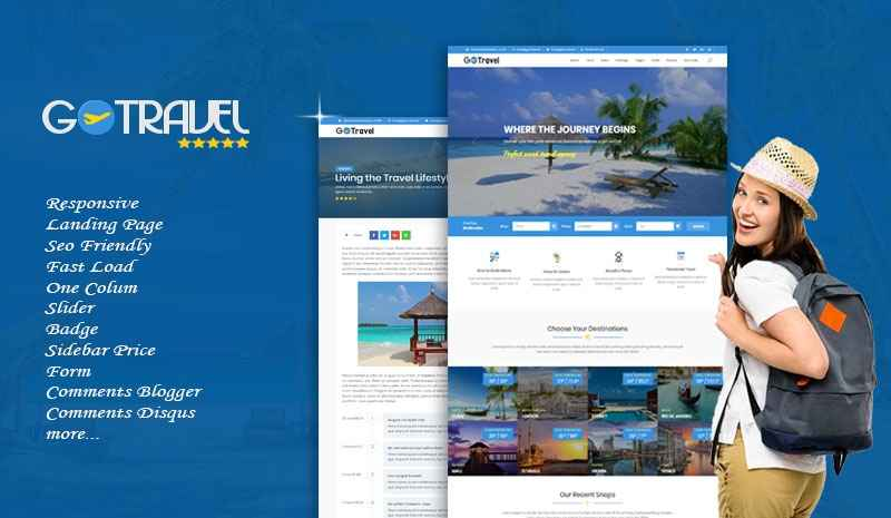 G- Travel Theme Responsive Blogger Template