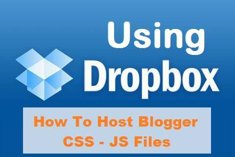 host files on Dropbox, Using Dropbox host blogger, dropbox