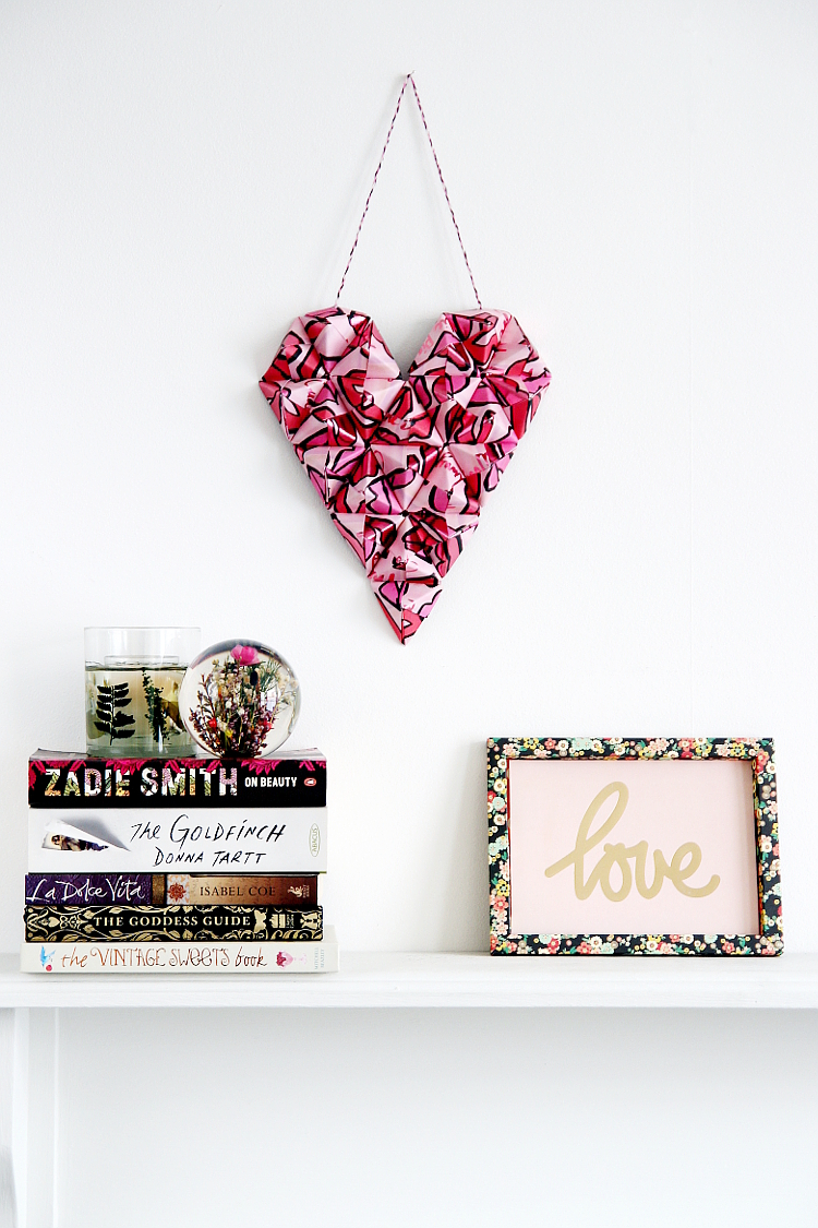 Decorate for Valentine's Day with this Diy 3D Origami Heart wall art