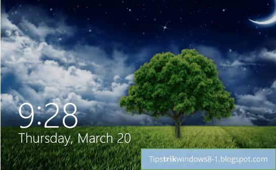 Lock screen di Windows 8.1