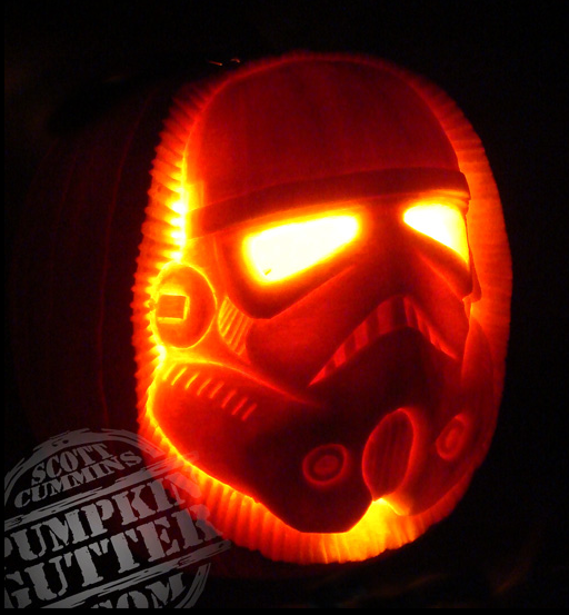Stormtrooper Halloween Pumpkin Carving Idea