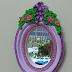 Aprenda a fazer o Passo a passo Moldura de Resina- Mini Espelho de Coração.