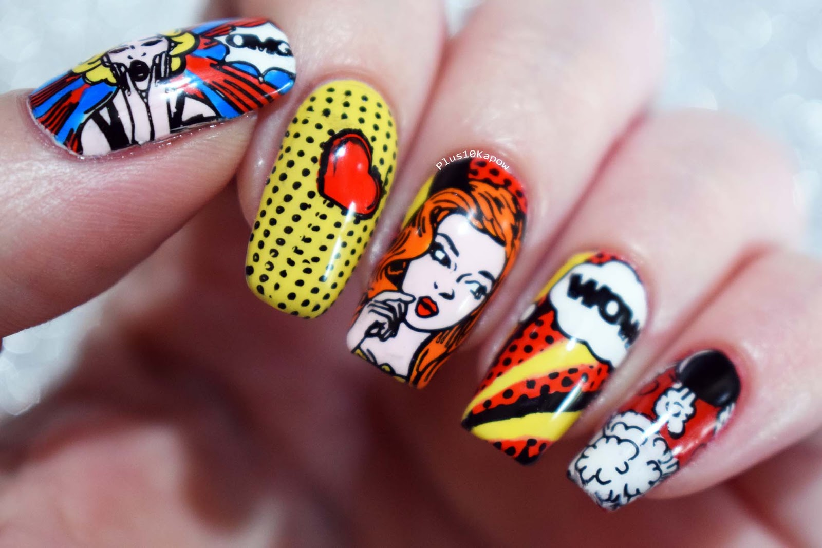 Plus10kapow Pop Art Nails