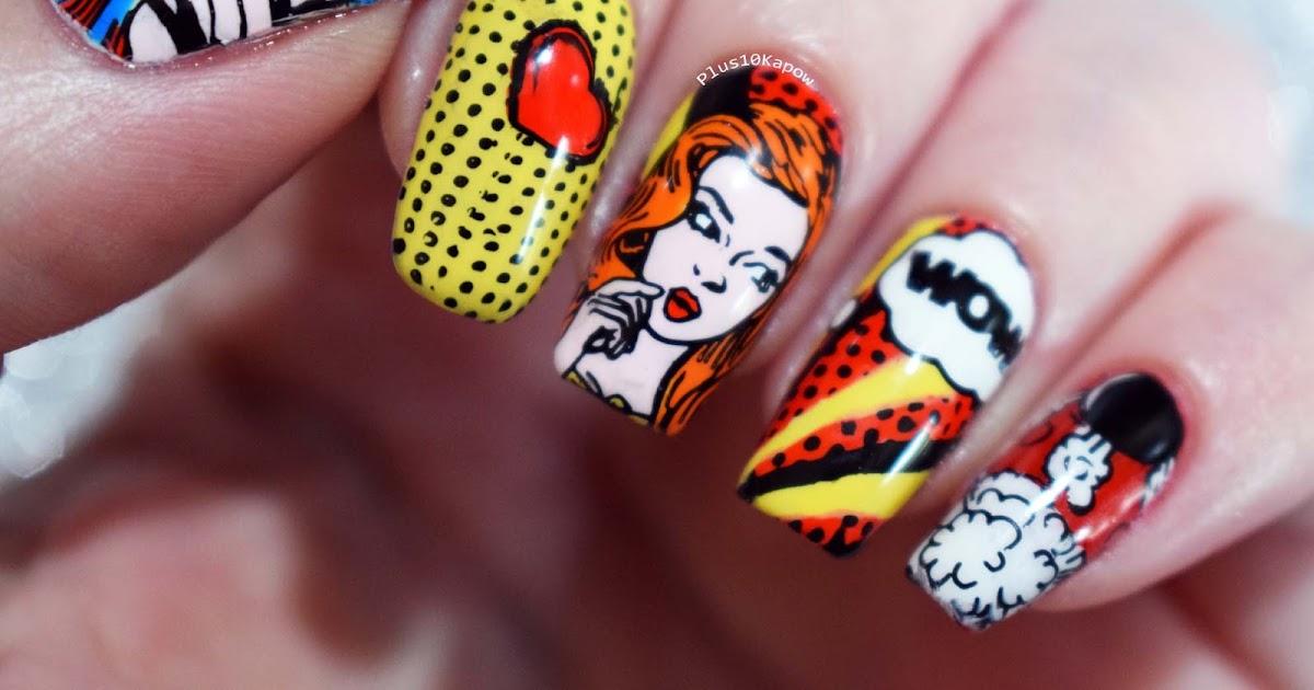 Plus10kapow pop art nails prinsesfo Choice Image