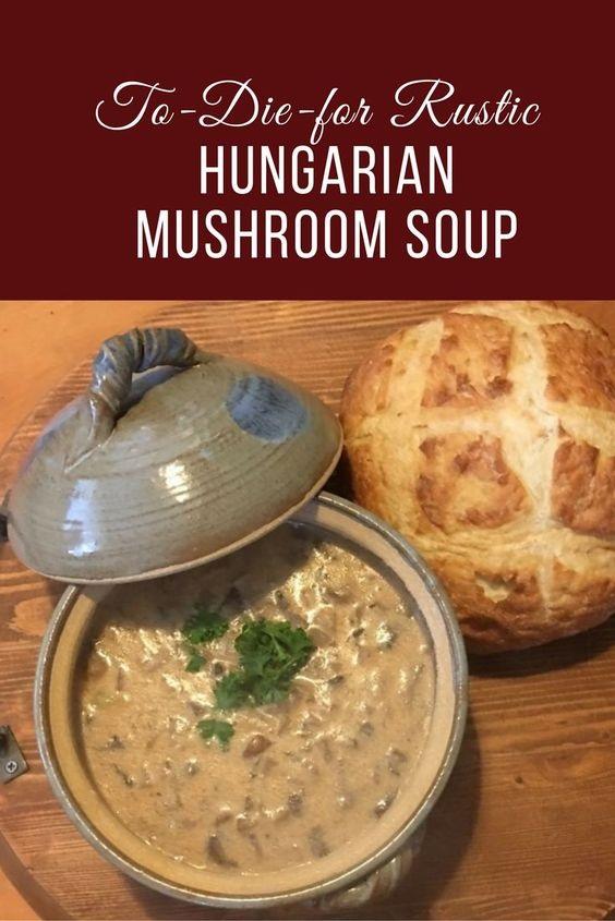 Rustic Hungarian Mushroom Soup