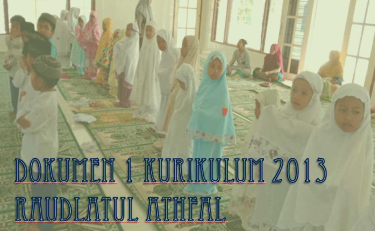 Contoh Dokumen 1 RA Kurikulum 2013