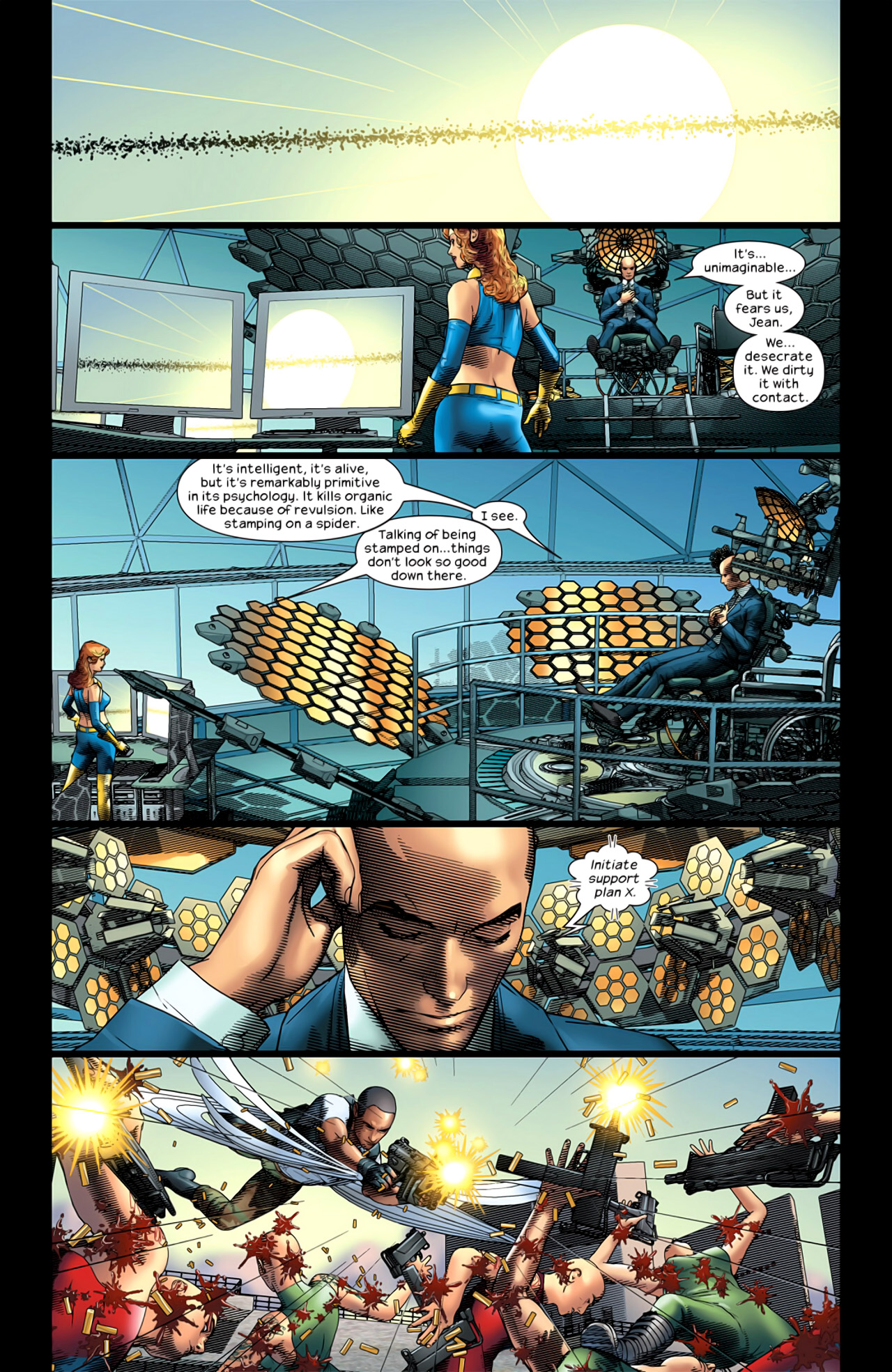 Read online Ultimate Extinction comic -  Issue #5 - 7