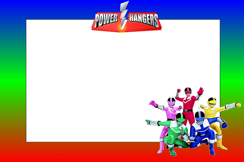 Power Rangers Free Printable Invitations Oh My Fiesta In English