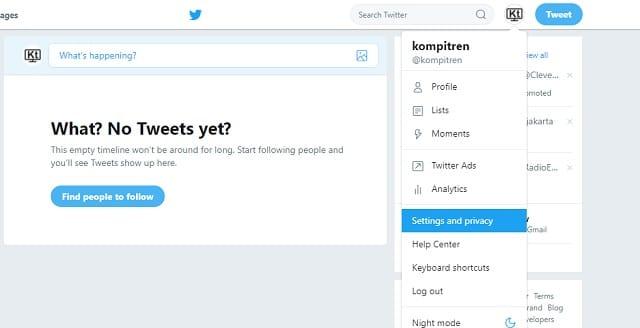 Cara Berhenti mendapatkan Email Pemberitahuan dari Twitter 2