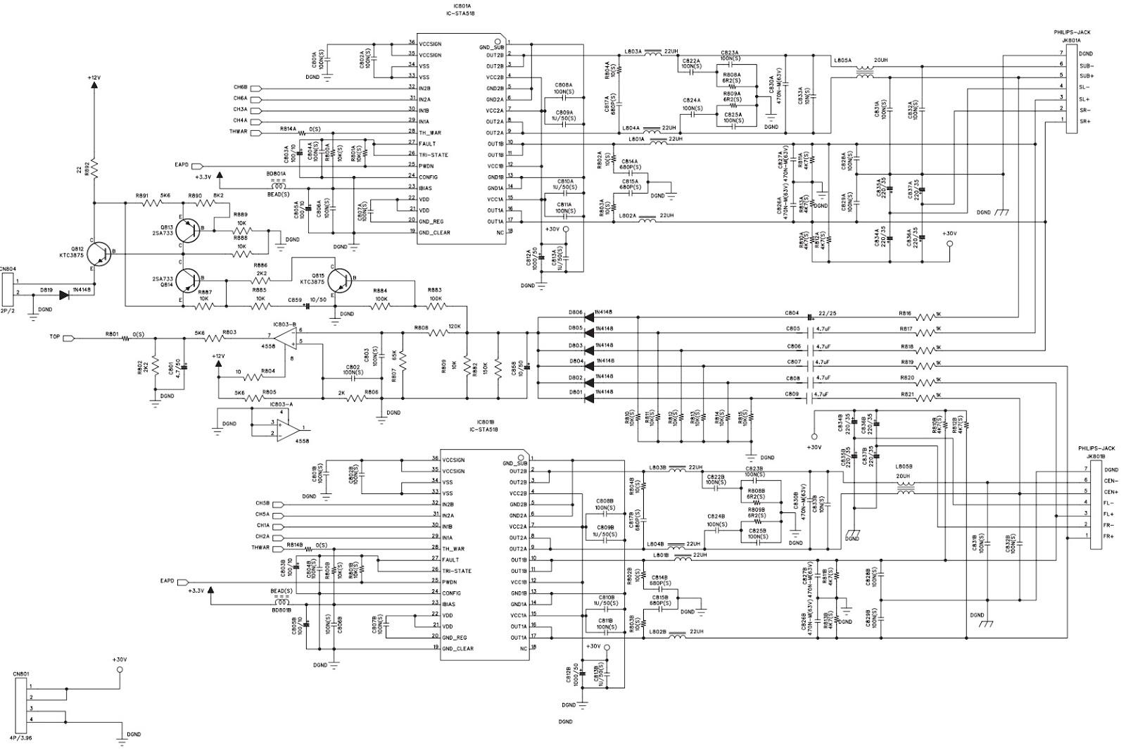 Dvd Home Theater System Philips Hts3510e 94 Circuit Diagram T Con Board Amplifier