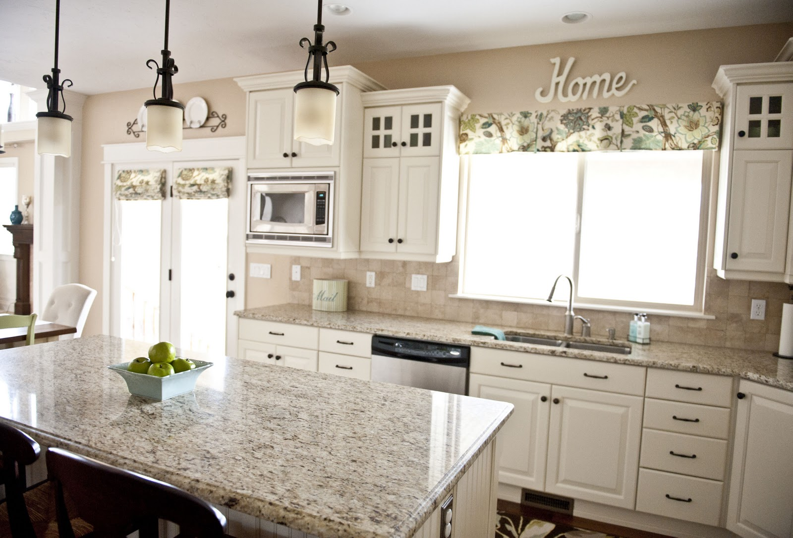 Granite Choices For White Cabinets Sita Montgomery Interiors My Home Tour Kitchen