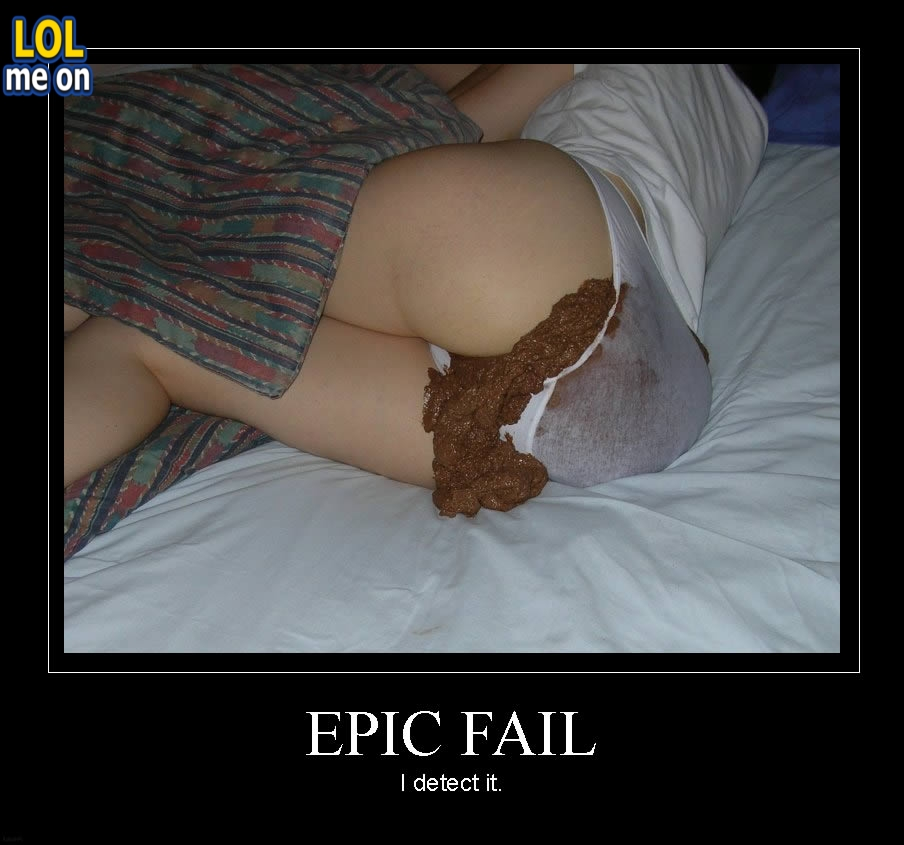 "funny fail picture shows a Dudu pants waste from ""LOL me on"""