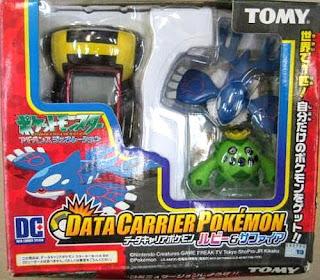Kyogre & Cacnea Tomy Data Carrier Pokemon Figure Set