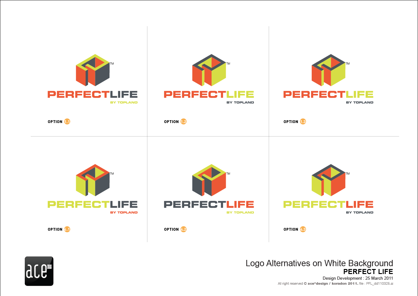 ace design   kor...Y M Logo Design