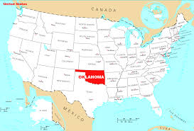 Map Of Oklahoma  State Map Of USA