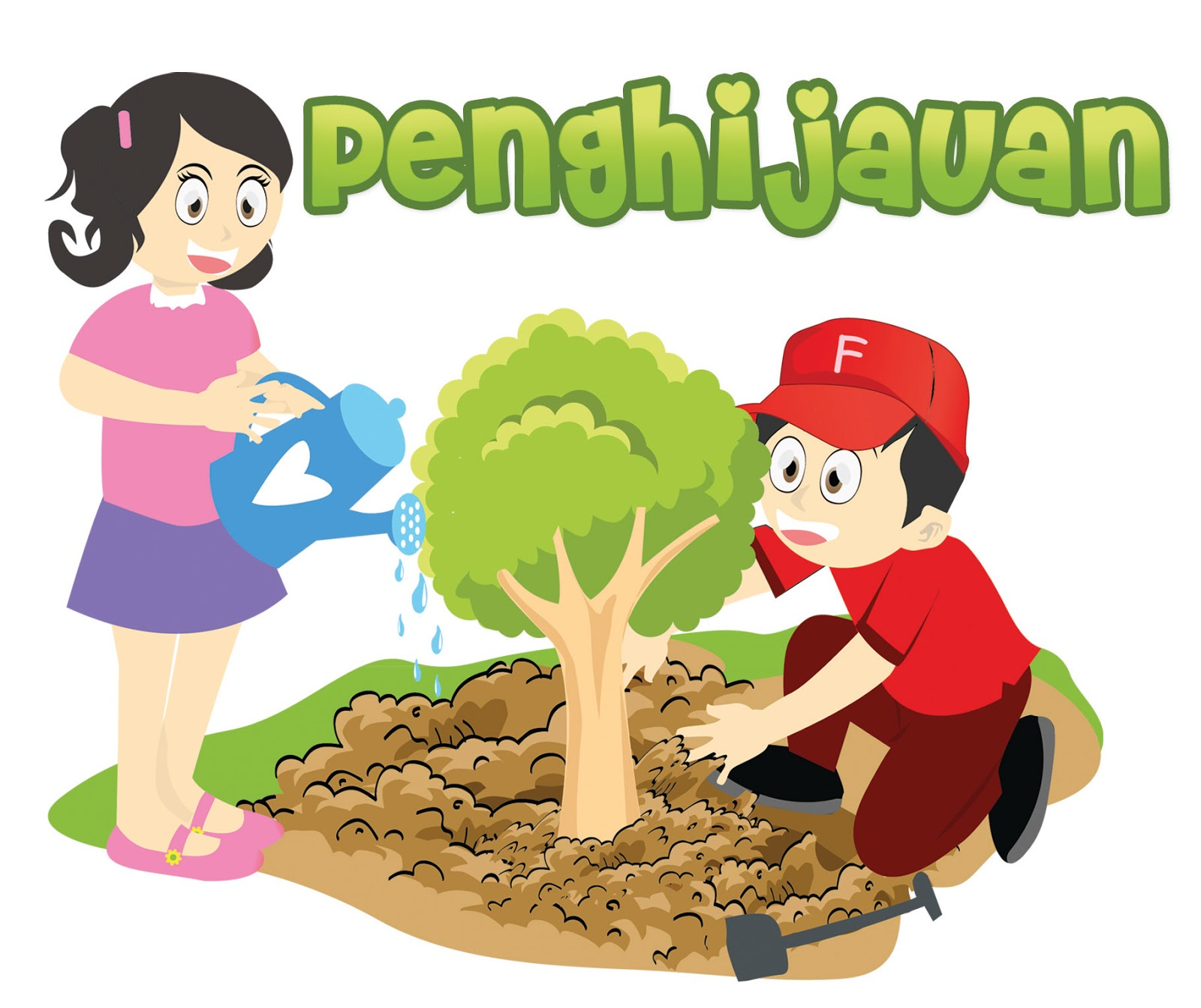 Today Menyiram Bunga Clipart HERE