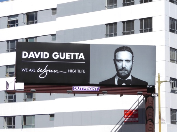 DJ David Guetta Wynn nightlife billboard