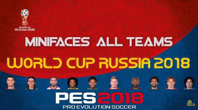 Minifaces World Cup 2018 Russia PES 2018