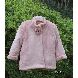 fur christening coat for girl