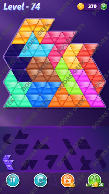 Block! Triangle Puzzle Grandmaster Level 74 Solution, Cheats, Walkthrough for Android, iPhone, iPad and iPod