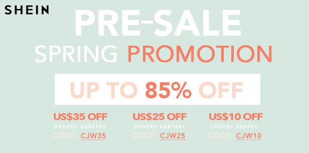 Shein's Pre-Sale Spring Promotion