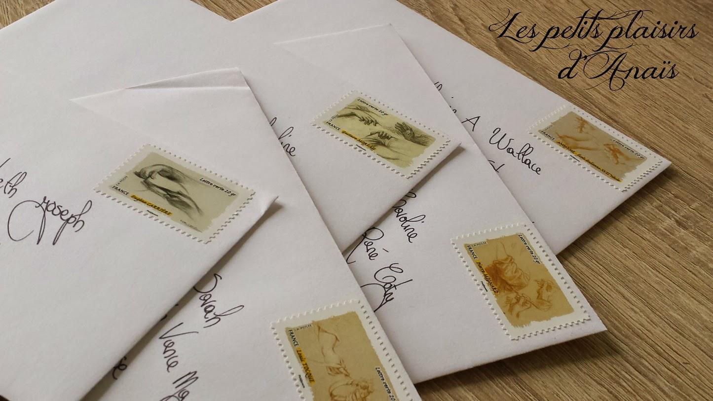 Les lettres à envoyer